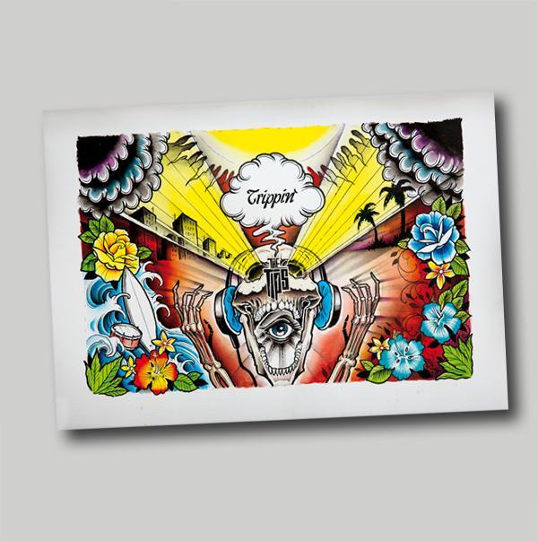 TRIPPIN' Cover Art-Print DINA 3