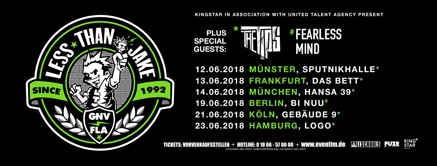 "Tour mit ""Less Than Jake"""