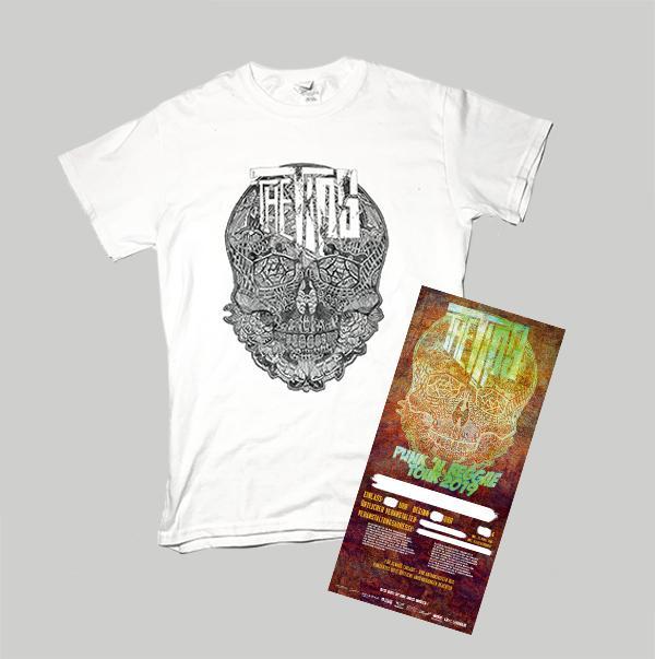 PUNK'N'REGGAE White Shirt  + Ticket (Stadt bitte mit angeben)